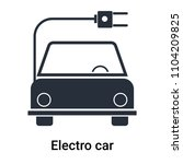 electro car icon vector... | Shutterstock .eps vector #1104209825