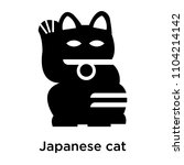 japanese cat icon vector... | Shutterstock .eps vector #1104214142