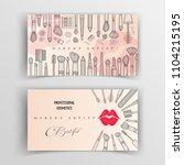 makeup artist business card.... | Shutterstock .eps vector #1104215195