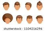 retro hairstyle men. male retro ...   Shutterstock .eps vector #1104216296