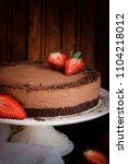 chocolate mousse cake on a... | Shutterstock . vector #1104218012