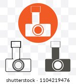 camera icon in trendy flat...