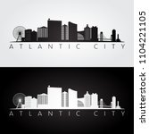 atlantic city  usa skyline and... | Shutterstock .eps vector #1104221105