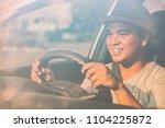 happy young handsome asian man... | Shutterstock . vector #1104225872