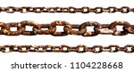old rusty chain isolated on... | Shutterstock . vector #1104228668