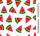 cute watermelon pattern.... | Shutterstock .eps vector #1104231572