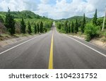 road down the mountain in... | Shutterstock . vector #1104231752