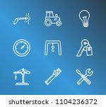 industrial icon set and tools...