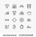 activity icon set and nature...