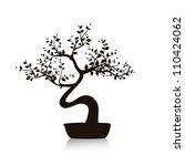 Vector Black Bonsai Tree...