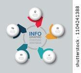 vector infographic template for ...   Shutterstock .eps vector #1104241388
