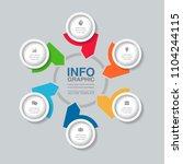 vector infographic template for ...   Shutterstock .eps vector #1104244115
