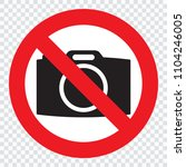 no cameras allowed sign. red...   Shutterstock .eps vector #1104246005