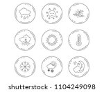 weather  sun and rain icons.... | Shutterstock .eps vector #1104249098