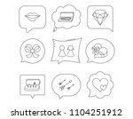 love heart  gift box and... | Shutterstock .eps vector #1104251912