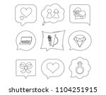 love heart  brilliant and... | Shutterstock .eps vector #1104251915