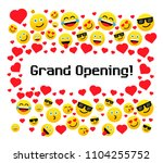 grand opening  greeting card... | Shutterstock .eps vector #1104255752