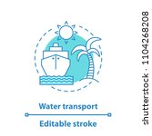 water transport concept icon.... | Shutterstock .eps vector #1104268208