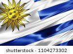 uruguay  flag  of silk 3d... | Shutterstock . vector #1104273302