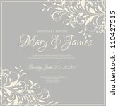 wedding card or invitation with ... | Shutterstock .eps vector #110427515