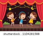vector illustration of kids art | Shutterstock .eps vector #1104281588