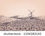 sunflower hills  artistic... | Shutterstock .eps vector #1104283142