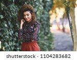 beautiful young arabic woman... | Shutterstock . vector #1104283682