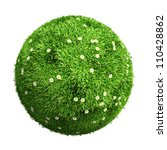 3d grass ball with flowers | Shutterstock . vector #110428862