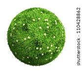 3d grass ball with flowers | Shutterstock . vector #110428862