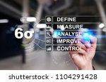 six sigma   set of techniques... | Shutterstock . vector #1104291428