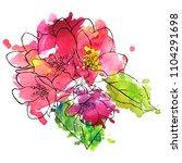 vector drawing apple tree...   Shutterstock .eps vector #1104291698