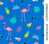 summer seamless cute colorful... | Shutterstock .eps vector #1104294845