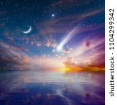 amazing peaceful background  ... | Shutterstock . vector #1104299342