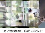 cctv security camera in...   Shutterstock . vector #1104321476