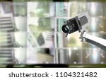cctv security camera in...   Shutterstock . vector #1104321482