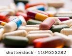 medicine  tablet  vitamin and...   Shutterstock . vector #1104323282