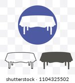 table icon. furniture icon | Shutterstock . vector #1104325502