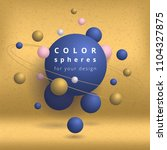 color spheres for your design.... | Shutterstock .eps vector #1104327875