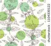 seamless pattern with nettle ... | Shutterstock .eps vector #1104330122
