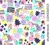 seamless pattern with unicorns.   Shutterstock .eps vector #1104336515