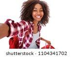 portrait of attractive young... | Shutterstock . vector #1104341702