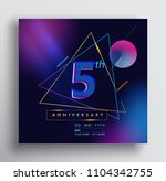 5 years anniversary logo with... | Shutterstock .eps vector #1104342755