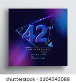 42 years anniversary logo with... | Shutterstock .eps vector #1104343088