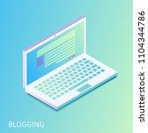isometric gradiented laptop  ... | Shutterstock .eps vector #1104344786