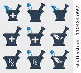 pharmacy and medical  icon set   Shutterstock .eps vector #1104345992