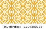 ikat seamless pattern. vector... | Shutterstock .eps vector #1104350336