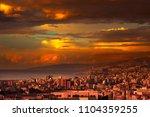 beautiful coastal city on... | Shutterstock . vector #1104359255