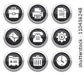 black office buttons   Shutterstock .eps vector #110436248