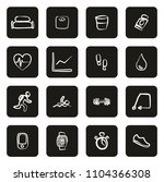 activity tracker icons freehand ... | Shutterstock .eps vector #1104366308