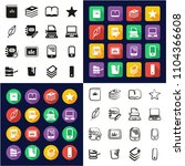 book publishing icons all in... | Shutterstock .eps vector #1104366608